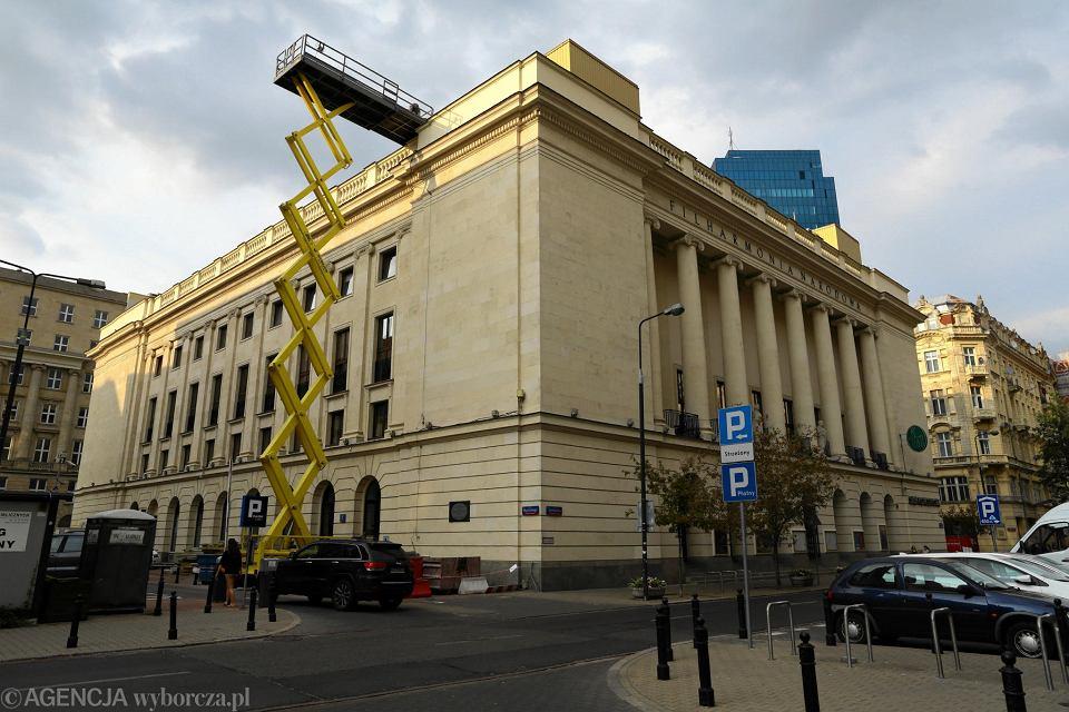 Rozpoczął się pilny remont dachu Filharmonii Narodowej