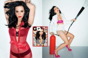 """Katy Perry w bieliźnie i kostiumach kąpielowych dla """"GQ"""": Nigdy nie miałam żadnej operacji plastycznej! Nie zrobiłam ust, policzków ani nosa. Cała jestem naturalna [ZDJĘCIA]"""