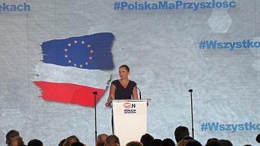 8.09.2018, Warszawa, Barbara Nowacka na konwencji wyborczej Koalicji Obywatelskiej.