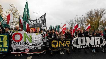 Marsz Niepodległości został zawłaszczony przez skrajną prawicę (na zdjęciu 2015 r.)
