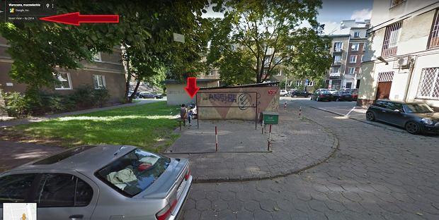 Śmieci przy ul. Podchorążych na Mokotowie