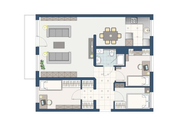 Jak urz�dzi� mieszkanie dla 4-osobowej rodziny?