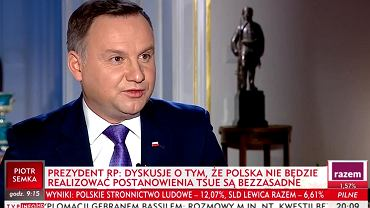 Prezydent Andrzej Duda w programie 'Gość Wiadomości'