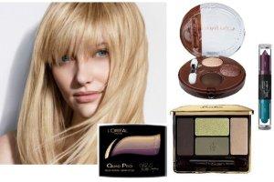 Kosmetyki do makija�u dla blondynki. Przegl�d cieni, r�y i podk�ad�w.