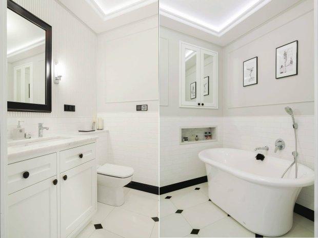 Biała łazienka na 6 m kw.