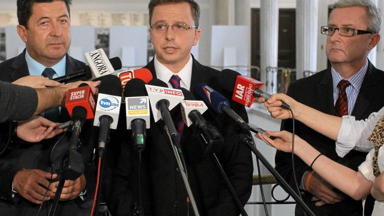 Rzecznik prasowy SLD Dariusz Joński