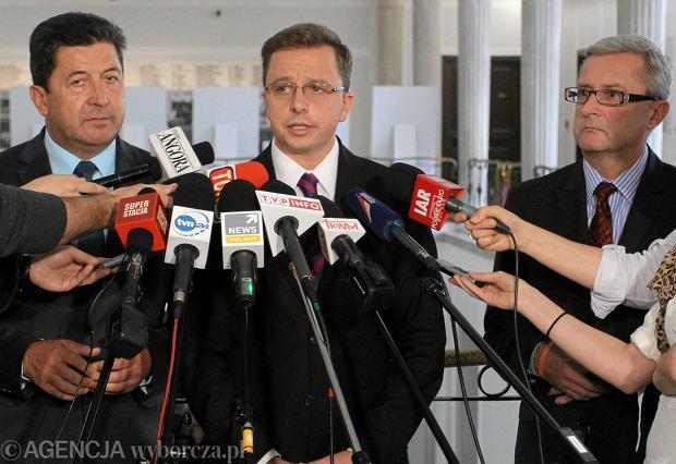 Rzecznik prasowy SLD Dariusz Jo�ski