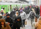 Tłumy na stacji Śródmieście po zmianach w rozkładzie