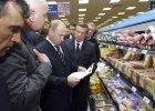 W�adimir Putin wizytuje sklep w Moskwie
