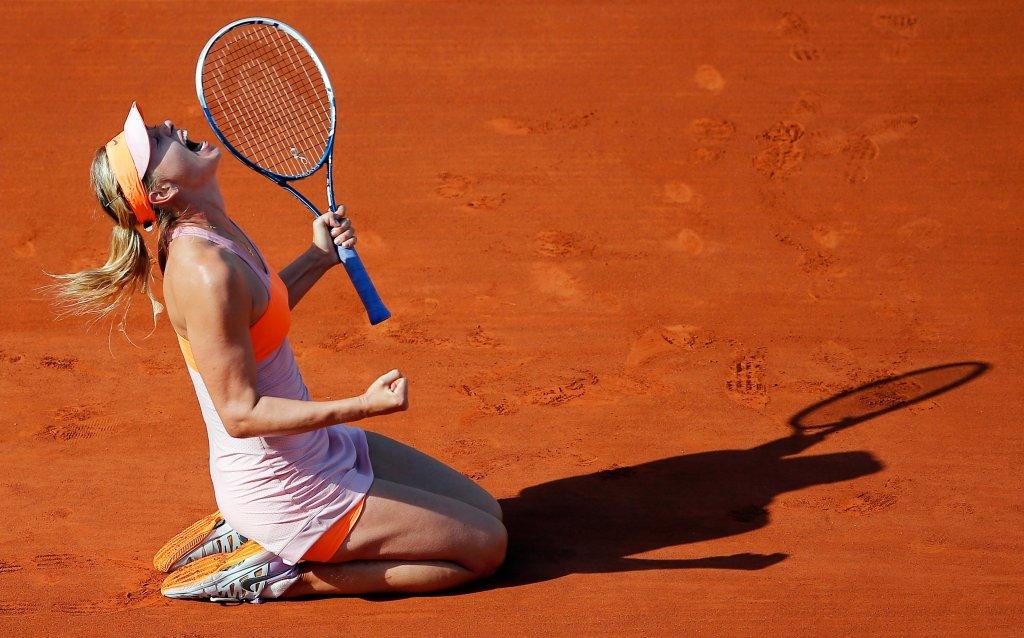 <b>Maria Szarapowa</b> po pokonaniu Simony Halep w finale French Open