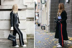 Sportowe spodnie z lampasami - hit czy obciach?