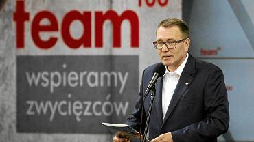 Cezary Jurkiewicz (PiS), prezes Polskiej Fundacji Narodowej podczas czerwcowej inauguracji programu pomocy wybitnym młodym sportowcom Team 100