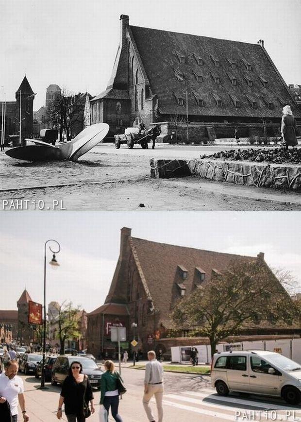 Zdjęcie numer 7 w galerii - Gdańsk dawniej i obecnie, te same miejsca. Obejrzyj, porównaj.... I co - jak zmieniło się miasto?