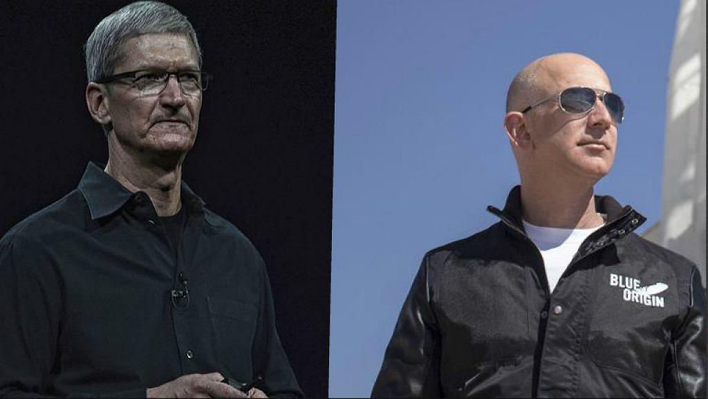Tim Cook (Apple) i Jeff Bezos (Amazon)