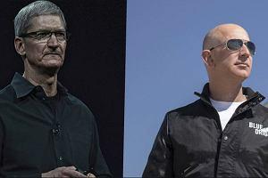 Starcie tytanów. Apple i Amazon walczą o to, aby przejść do historii.  Bilion dolarów jest w ich zasięgu