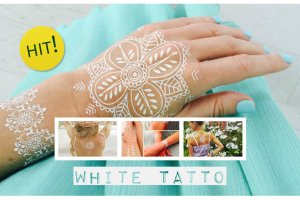 Białe tatuaże- zobacz o co chodzi i jak je zrobić