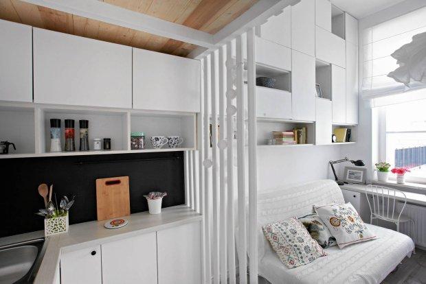 Kuchnia, aranżacja kuchni, kawalerka, małe mieszkanie