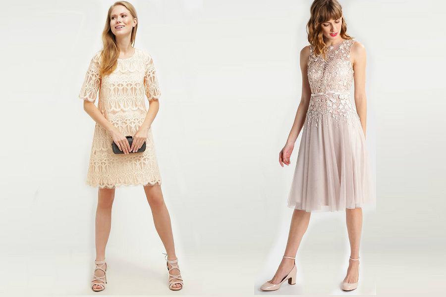 beżowe sukienki