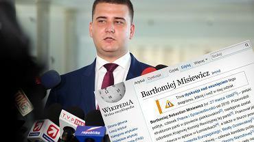 """Hasło """"Bartłomiej Misiewicz"""" na Wikipedii od kilku dni pojawia się i znika"""