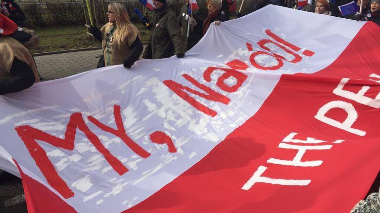 Marsz KOD w Warszawie, 27 lutego 2016 r.