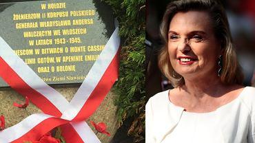 Anna Anders odsłoniła w Sławnie tablicę z błędami
