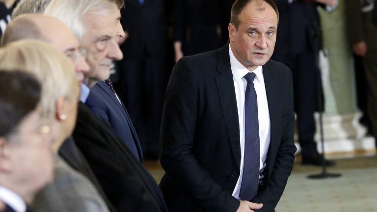 9.01.2018, Paweł Kukiz na uroczystości rekonstrukcji rządu w Pałacu Prezydenckim.
