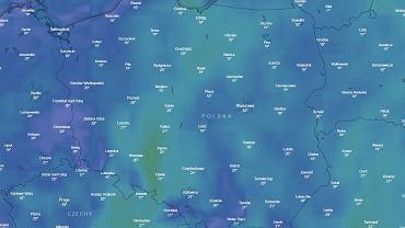 Temperatury powietrza w Polsce w środę 17 października 2018 o godz. 15