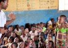 Dziewczynka z Malawi podczas lekcji angielskiego