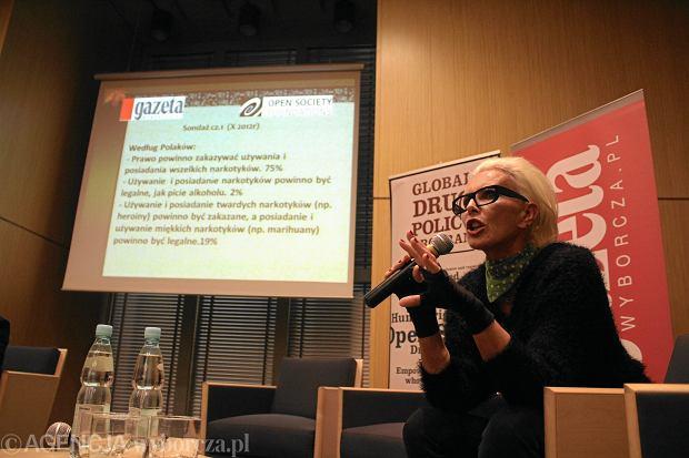 Kora Jackowska podczas konferencji