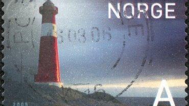 znaczek z Norwegii
