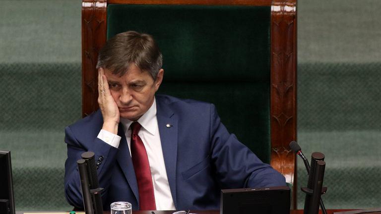 Marek Kuchciński prowadzi 19. posiedzenie Sejmu VIII kadencji, maj 2016.