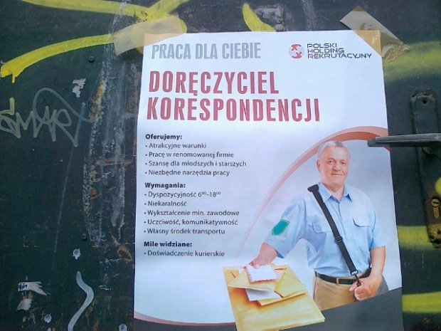 Og�oszenie dla nowych ''listonoszy''