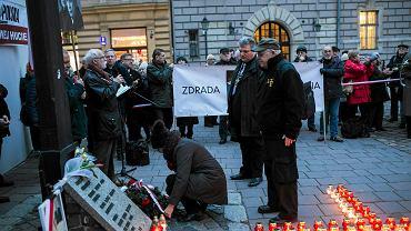 83. miesięcznica smoleńska w Krakowie