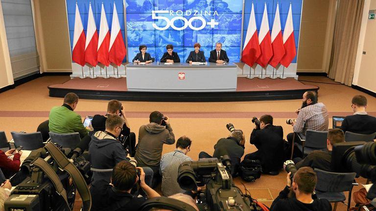 Konferencja rządu o 500 +