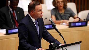 Prezydent Andrzej Duda przemawia na szczycie ONZ w Nowym Jorku