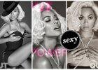 Beyonce z blond włosami w stylu Marilyn Monroe oraz w seksownych gorsetach w sesji do magazynu dla homoseksualistów OUT [WSZYSTKIE ZDJĘCIA]