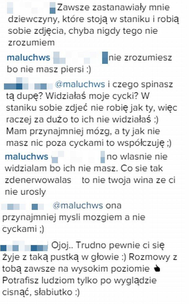 Komentarze fanów i Małej Ani na Instagramie
