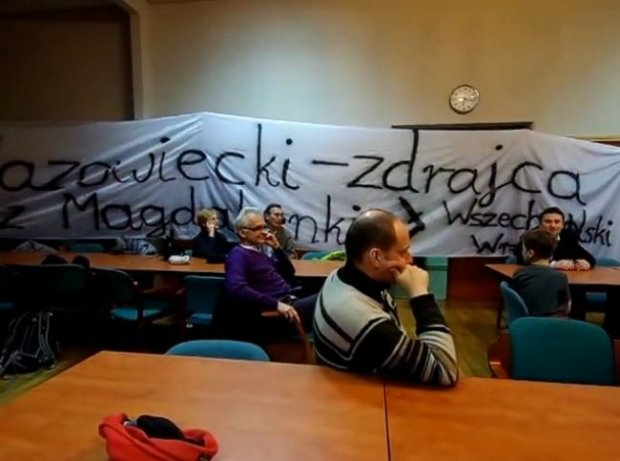 Narodowcy zn�w wtargn�li na Uniwersytet Wroc�awski