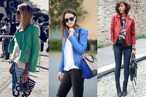 Kolorowe kurtki skórzane - pokonaj jesienną nudę