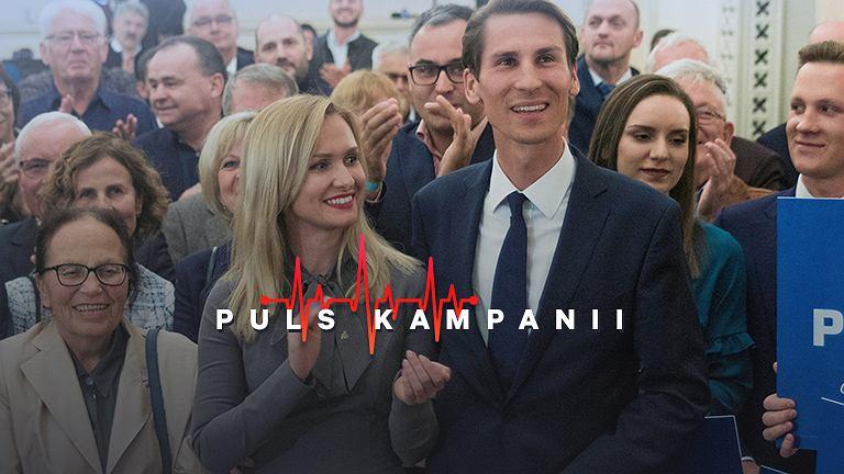 Kacper Płażyński z żoną Natalią Nitek-Płażyńską, fot. Renata Dąbrowska / Agencja Gazeta