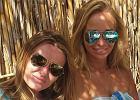 Najlepsze przyjaci�ki: Hanna Lis i Joanna Przetakiewicz sp�dzaj� razem wakacje