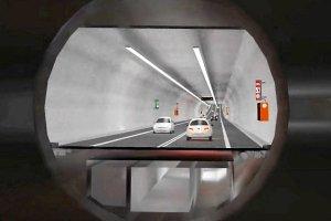 Przekrój przyszłego tunelu pod Świną (wizualizacja)