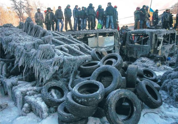Kijowianie na barykadzie