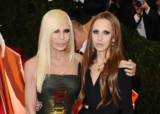 Donatella Versace i Allegra Beck Versace