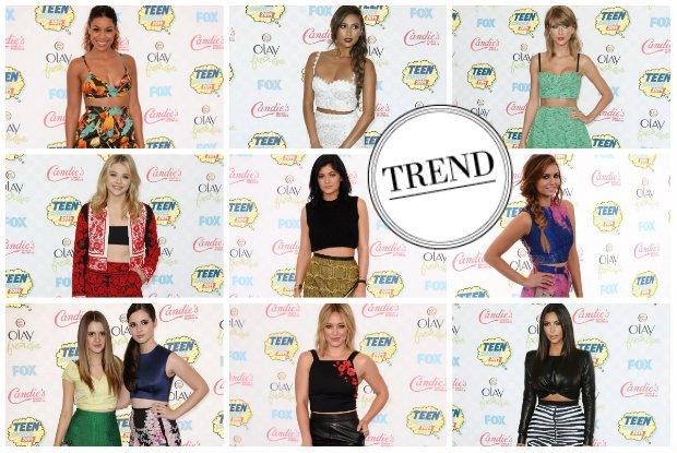93b9a2f8d7 Trend prosto z gali Teen Choice Awards  krótkie topy odsłaniające brzuch