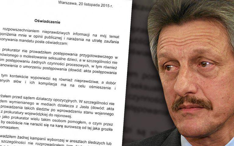 Stanisław Piotrowicz i jego oświadczenie ws. m.in. naszego tekstu