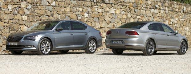 Skoda Superb 2.0 TDI vs. Volkswagen Passat 2.0 TDI