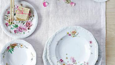 SERWISY OBIADOWE. Maria Róża, porcelana, zestaw dla 2 osób - 10 elementów, Rosenthal, 910 zł
