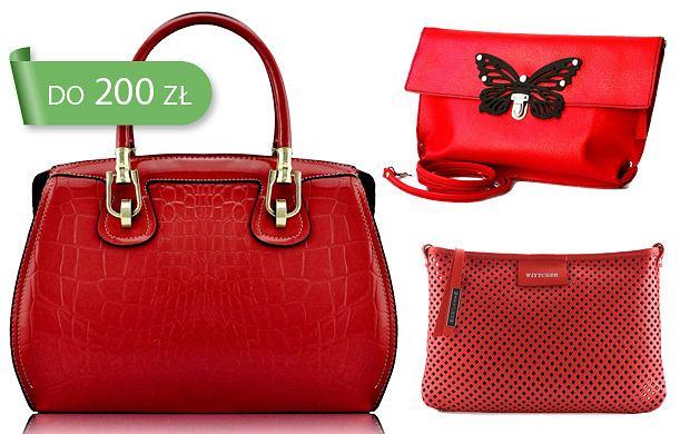acc7bea05aa63 Czerwone torebki do 200 zł