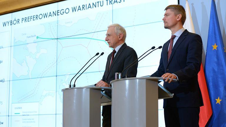 Podczas konferencji Minister Piotr Naimski i Prezes Tomasz Stępień przedstawili rekomendowaną trasę podwodnej części gazociągu Baltic Pipe.